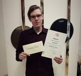Mārcis Briška – Sitaminstrumentu spēles konkursa GRAND PRIX ieguvējs
