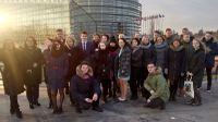 Jēkabpils Valsts ģimnāzijas skolēni viesojas Eiropas Parlamentā Strasbūrā